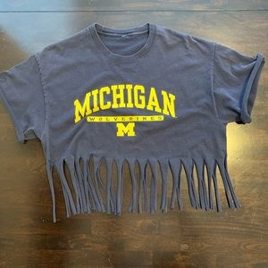 Tops - Michigan Crop Fringe Top handmade